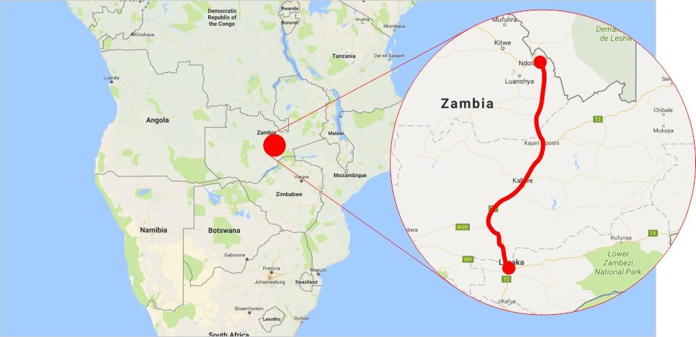 The 321-kilometre Lusaka to Ndola dual carriageway project includes the Kabwe and Kapiri Mposhi bypass roads, and 45 kilometres of the Luanshya-Fisenge-Masangano Road.