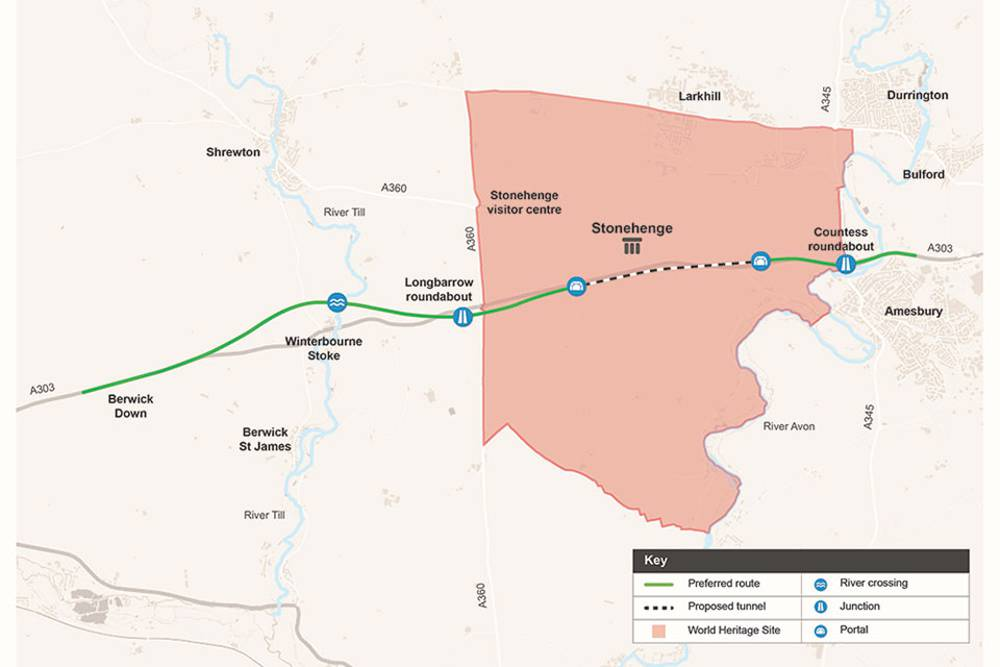 Major boost for the south-west as plans published for £1.6 billion A303 Stonehenge upgrade