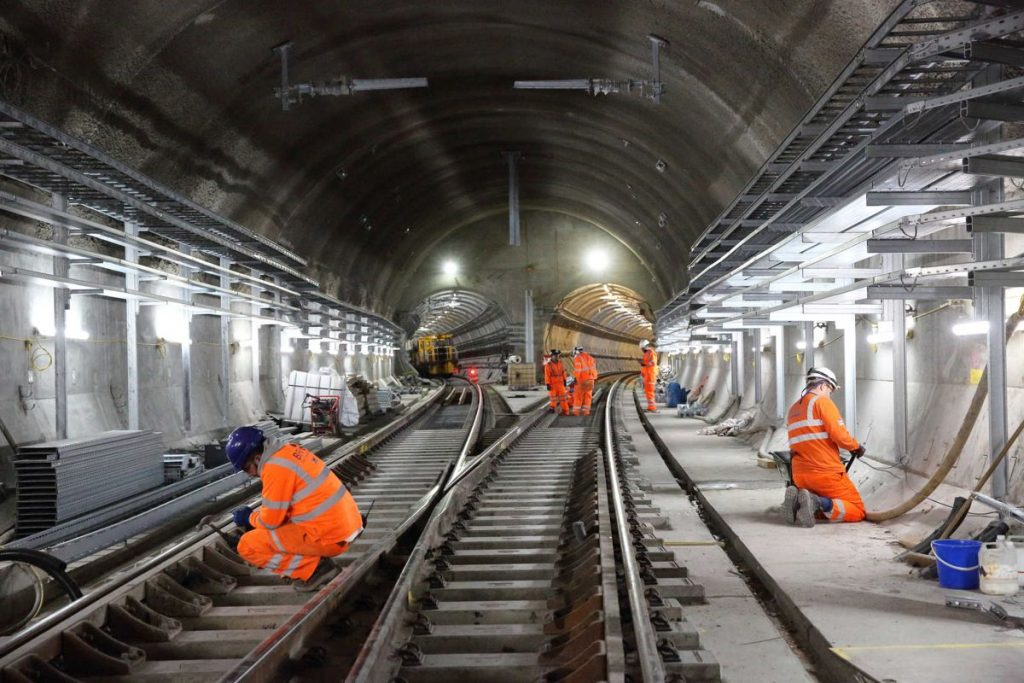 Permanent Elizabeth line track installed at Stepney Green cavern