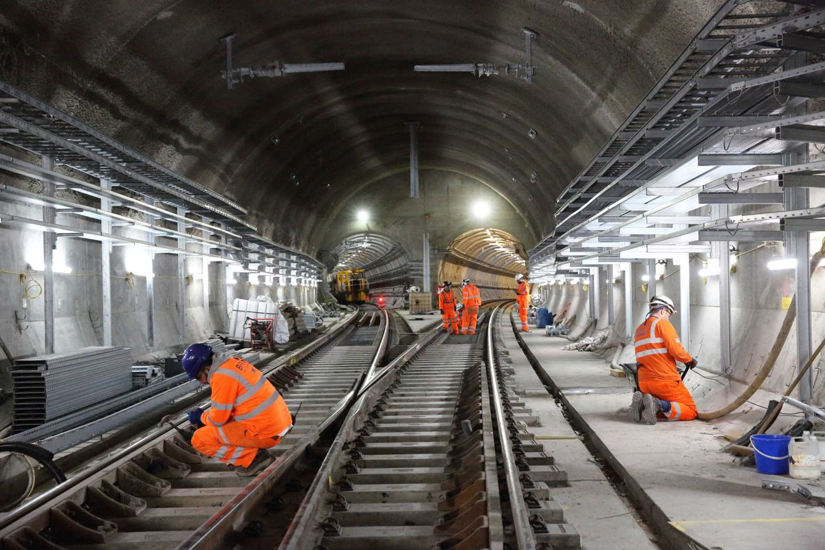 London Underground Elizabeth line track installation is complete
