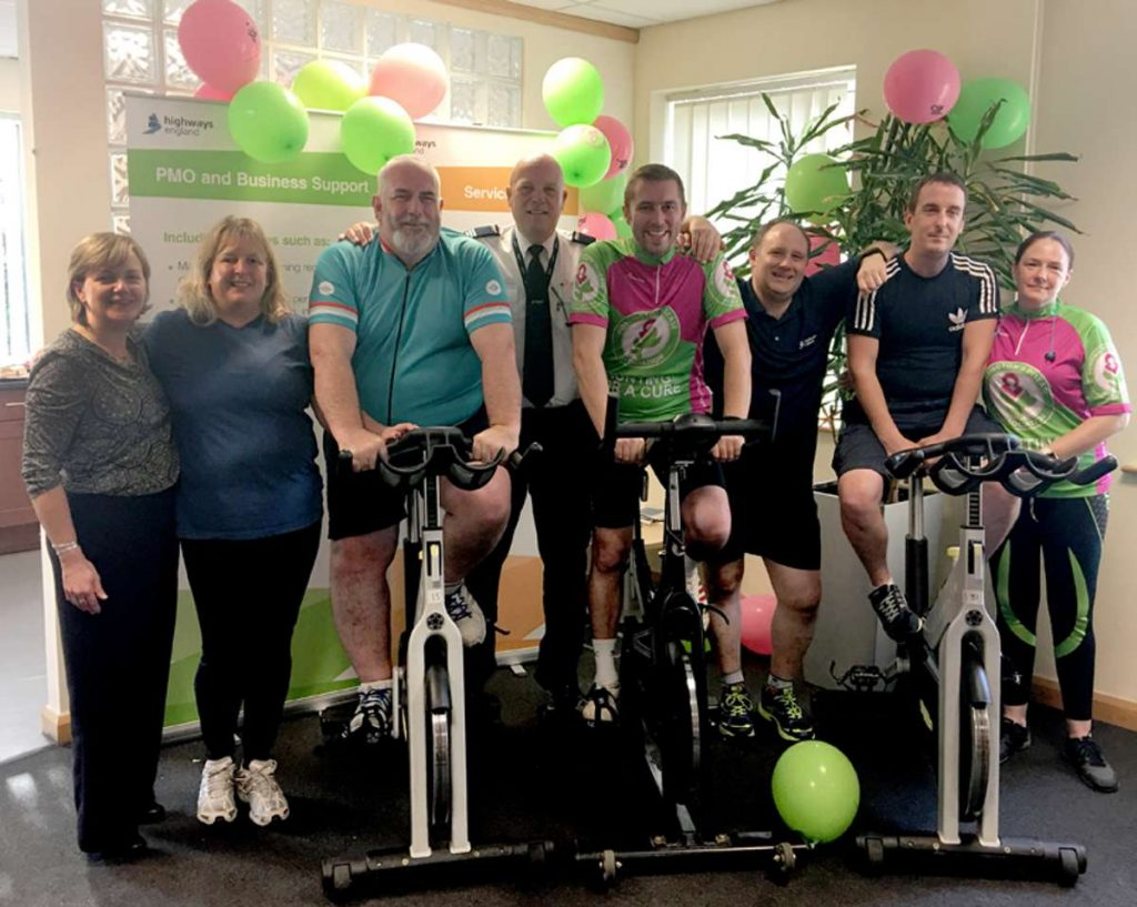 South West traffic officers' 24-hour bike challenge is a real spin-off for charity