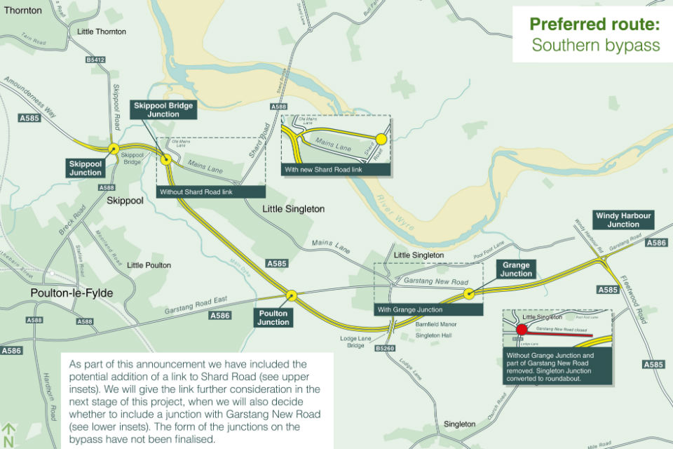Dual carriageway bypass unveiled for key A585 improvement