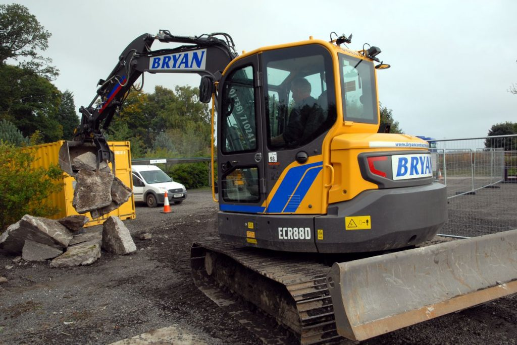 Bryan Contractors of Caputh, near Perth has added another new Volvo ECR88D reduced-swing excavator and a fourteen tonne EC140E excavator to its plant fleet for its general contracting and ground works business.