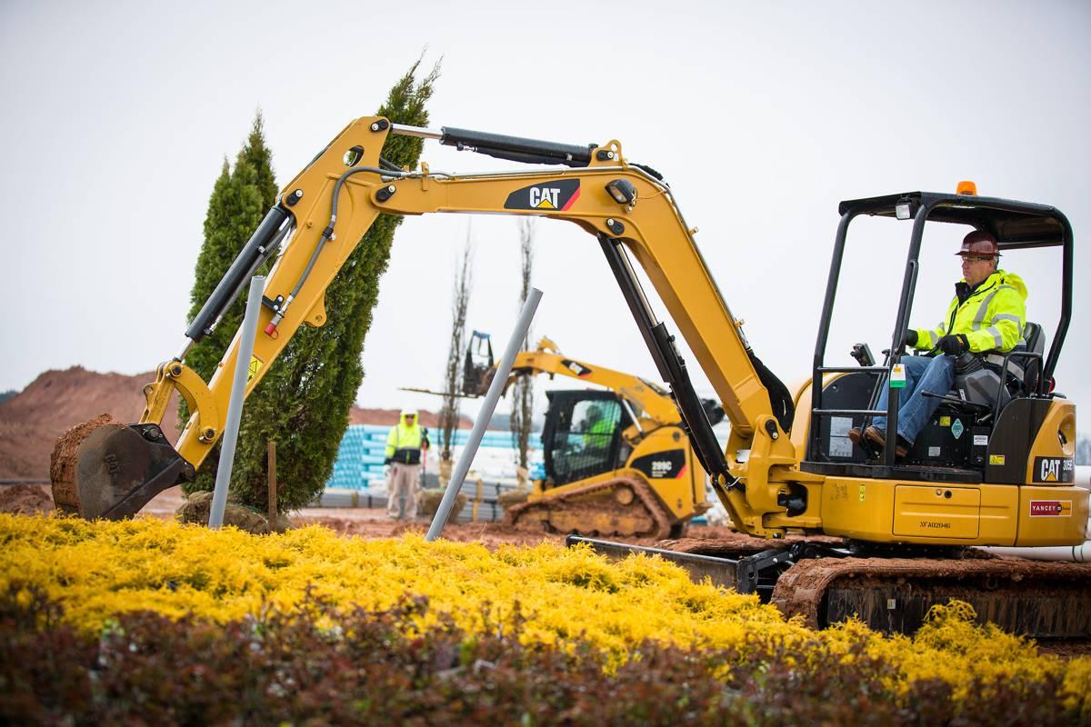 Cat 303E CR mini Hydraulic Excavator slims down for better performance