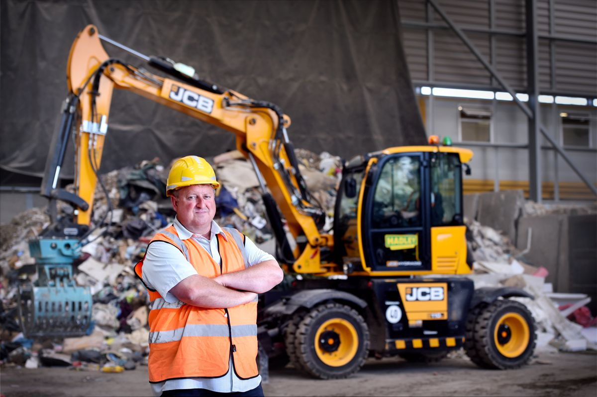 JCB Hydradig versatility fits the bill at Hadley Recycling