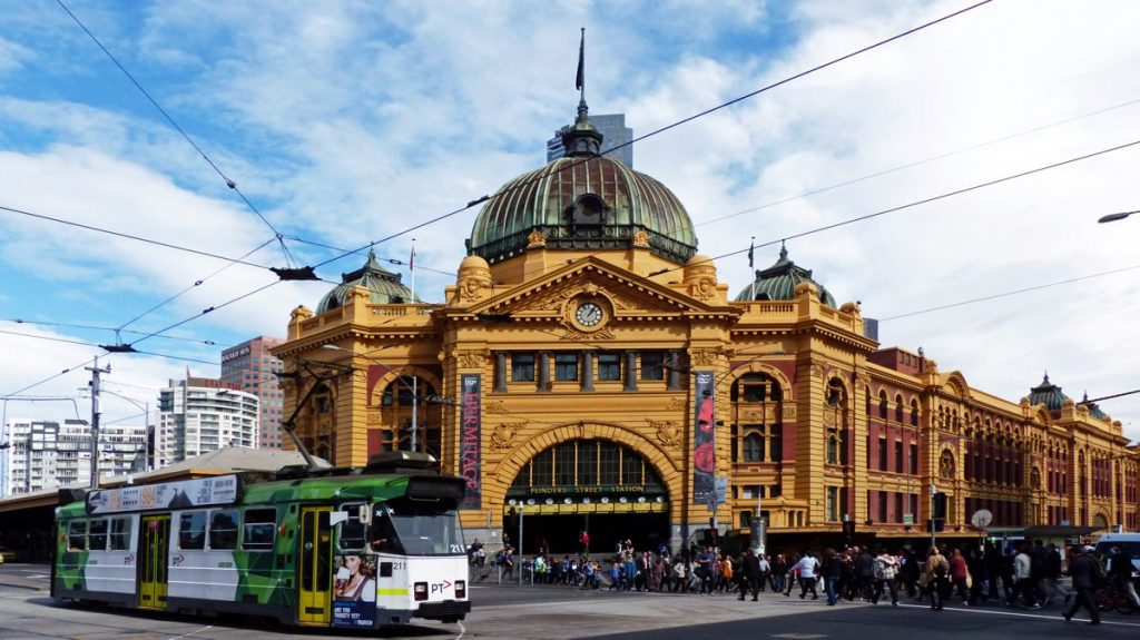 Finders Street Station in Melbourne Australia - Photo by Bernard Spragg