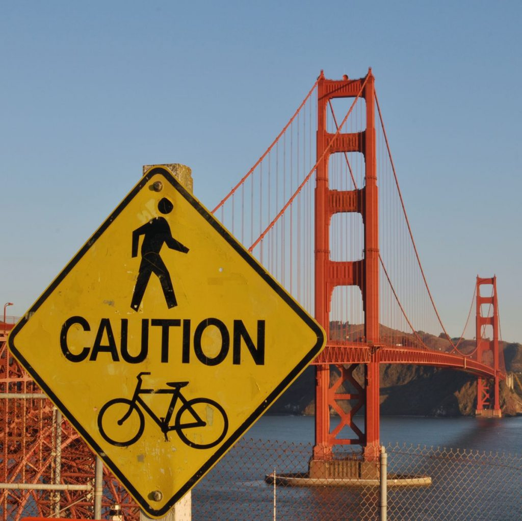 Golden Gate Bridge Sign - Photo by Marco Verch