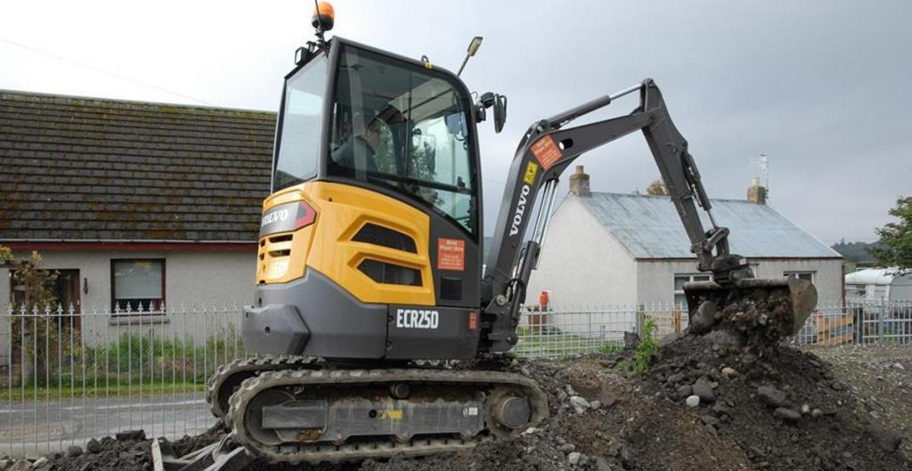 First Volvo Excavator for Reid Plant Hire in Scottish Highlands