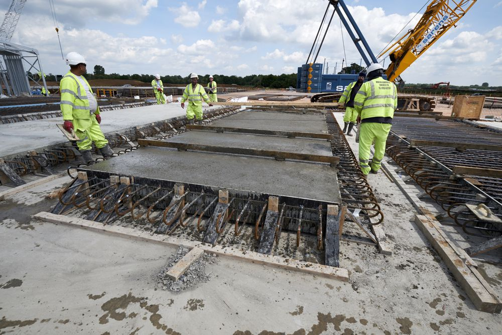 The UK's biggest road construction project is marking its first full year of work.