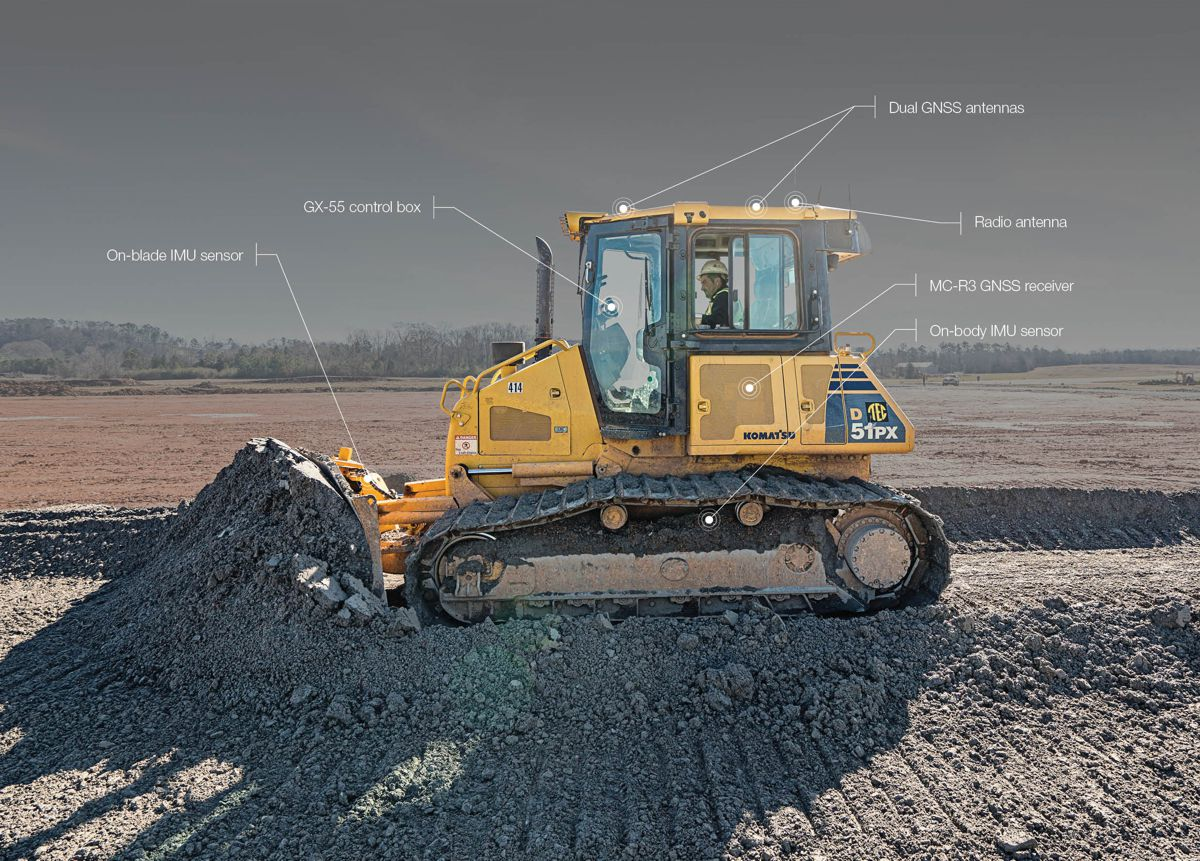 Integrated 3D Dozer Control system defines cutting edge