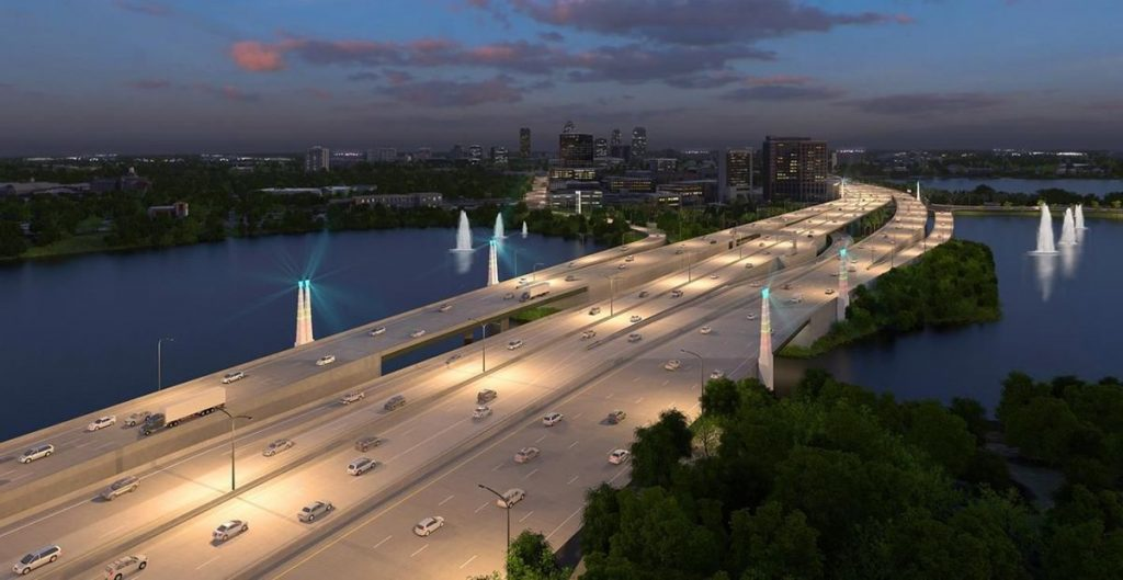 A rendering of how the result will look at I-4 Ultimate and Ivanhoe, Orlando - Photo by FDOT