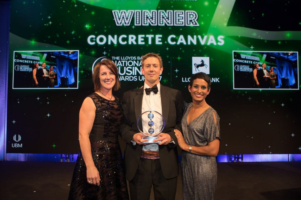 Concrete Canvas wins Samsung Innovation Award