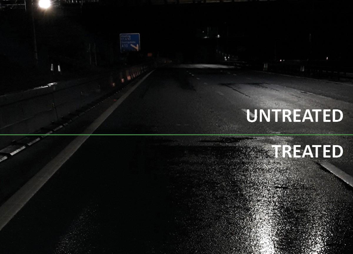 TRL tests RHiNOPHALT Highway Preservation on the M4 Motorway in England