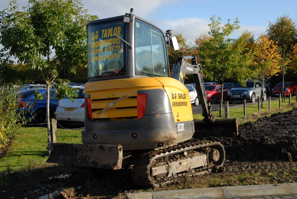 """""""I'm sticking with Volvo…"""" So says Brian Taylor, proprietor of B G Taylor Groundworks of Glenrothes as he reflects on one year's operation with his Volvo EC27C and ECR50D compact excavators."""