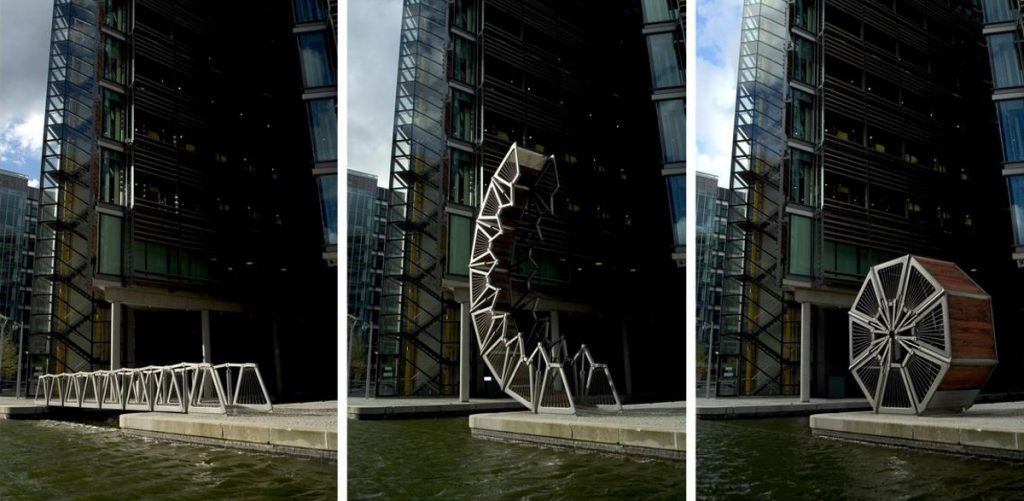London's Sculptural Rolling Bridge is a design icon