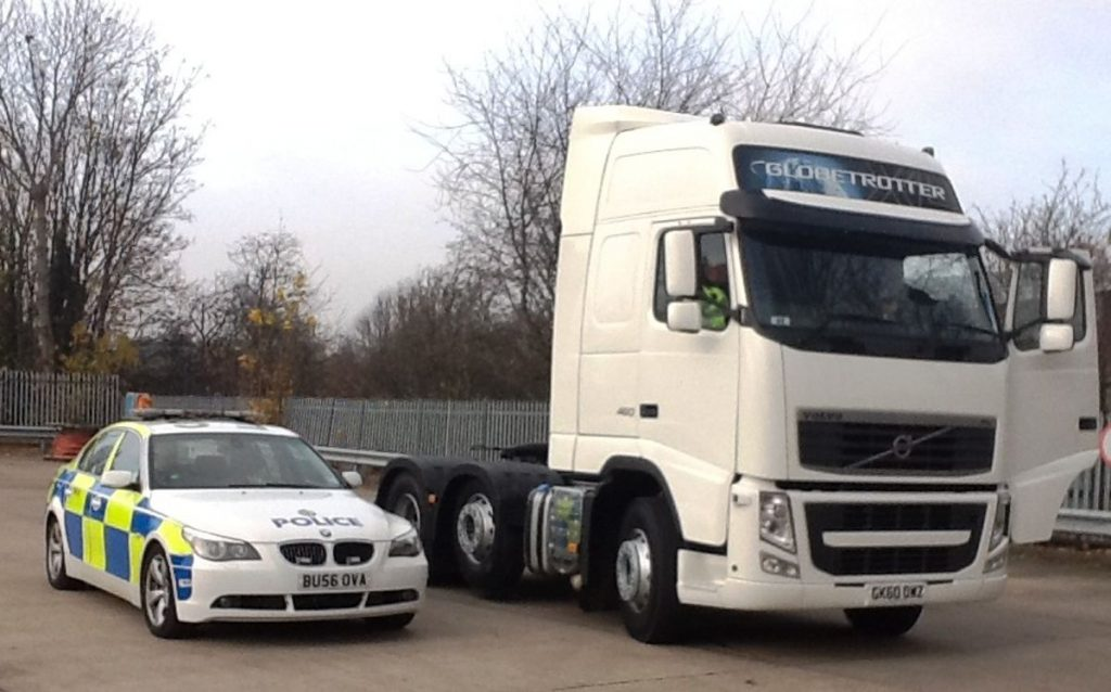 CMPG Heavy Goods Vehicle - Photo by West Midlands Police