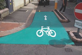 Colourful road markings are becoming more popular on British roads