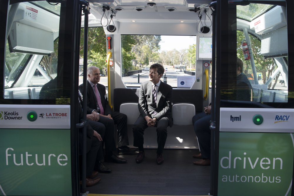 Victoria announces first driverless bus now running in Australia