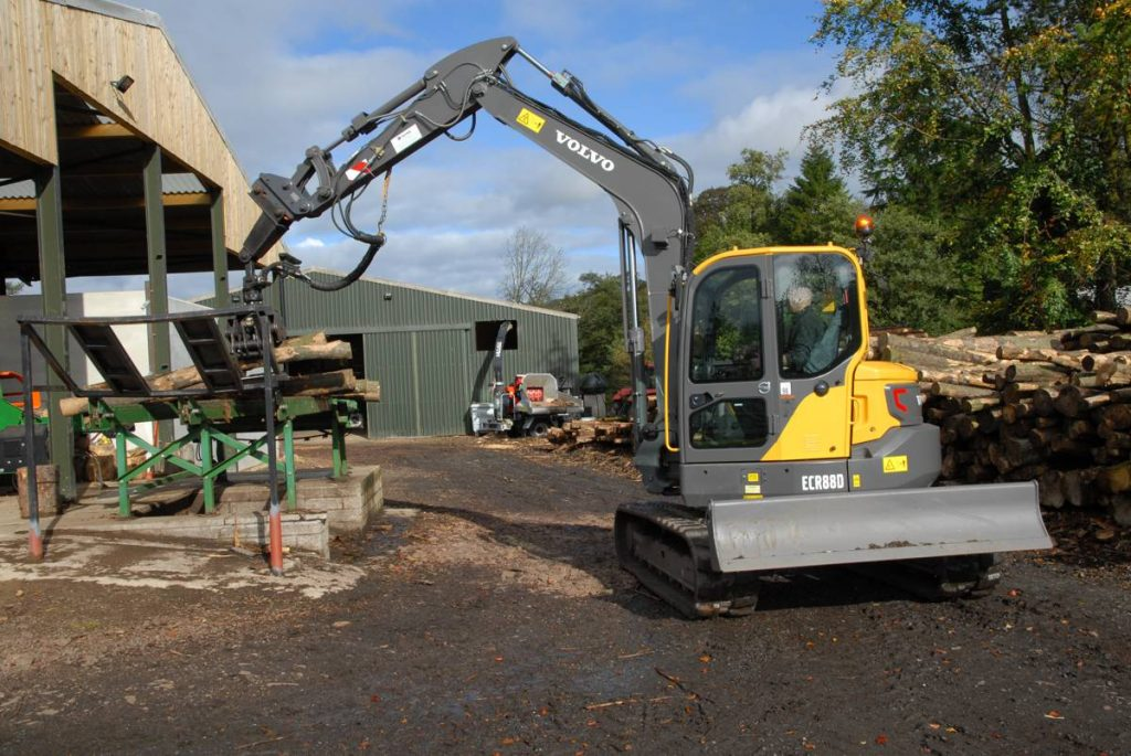 VolvoCE ECR88D Excavator keeps the home fires burning