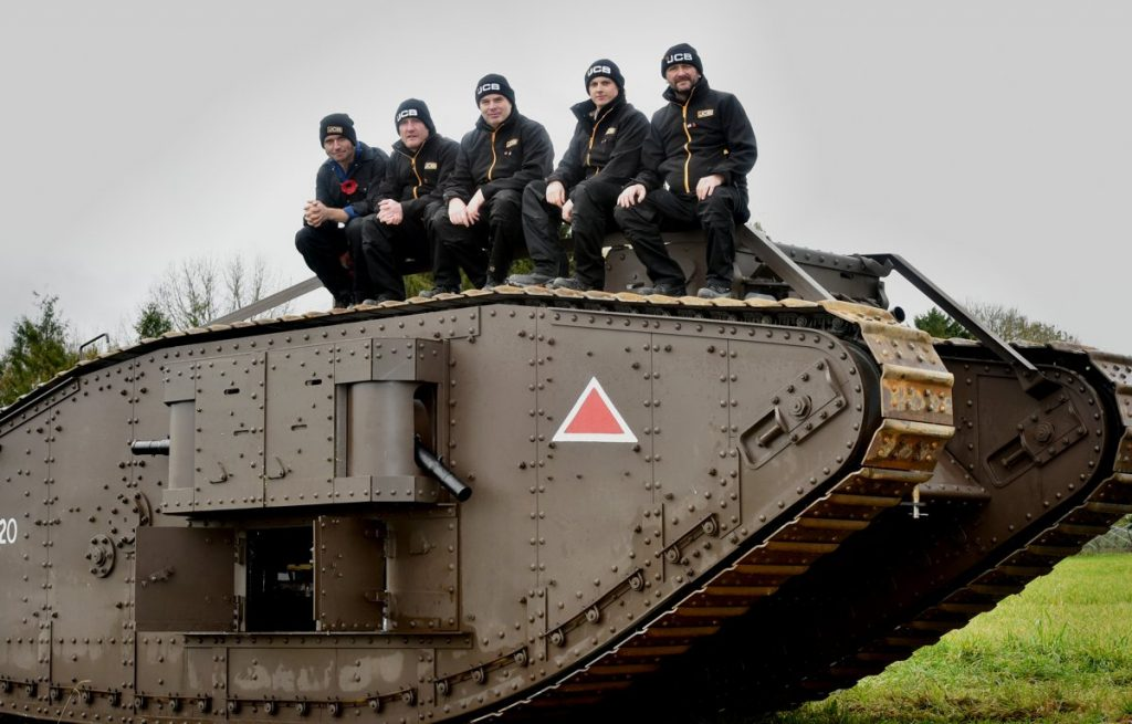 EXCAVATOR giant JCB helped TV personality Guy Martin to engineer a tribute to the role tanks played in helping change the course of the First World War. Now the story of the tank's role and its modern-day recreation will be told in a Channel Four documentary 'Guy Martin's WW1 One Tank' on Sunday, November 19 at 8pm.