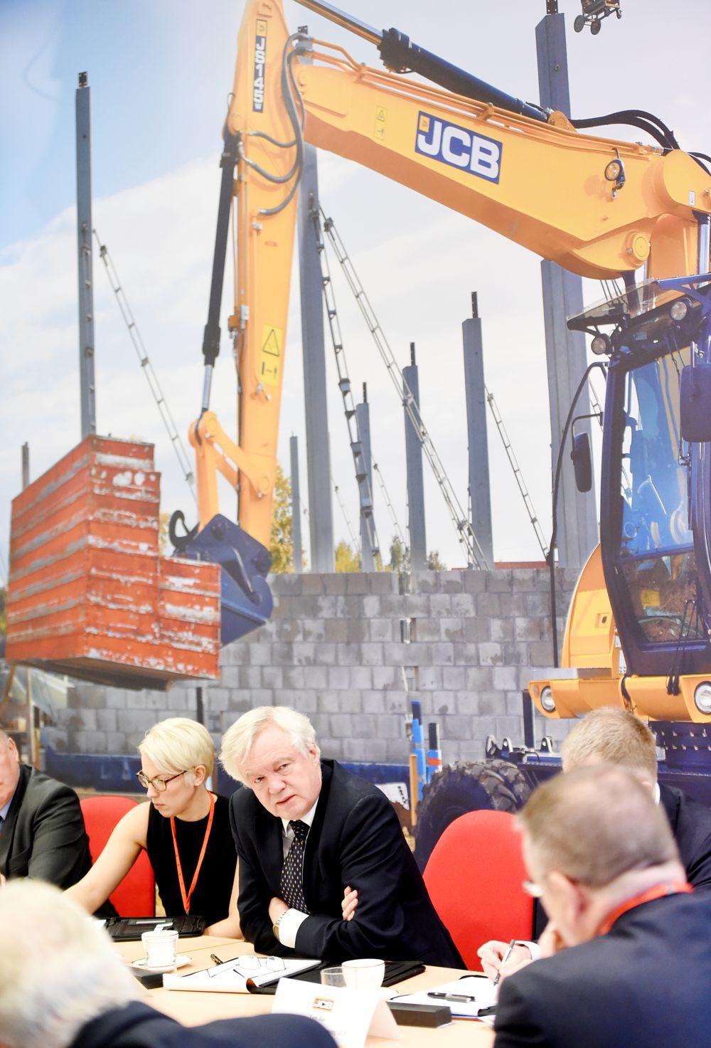 David Davis visits JCB to reassure British business as Brexit talks enter key stage