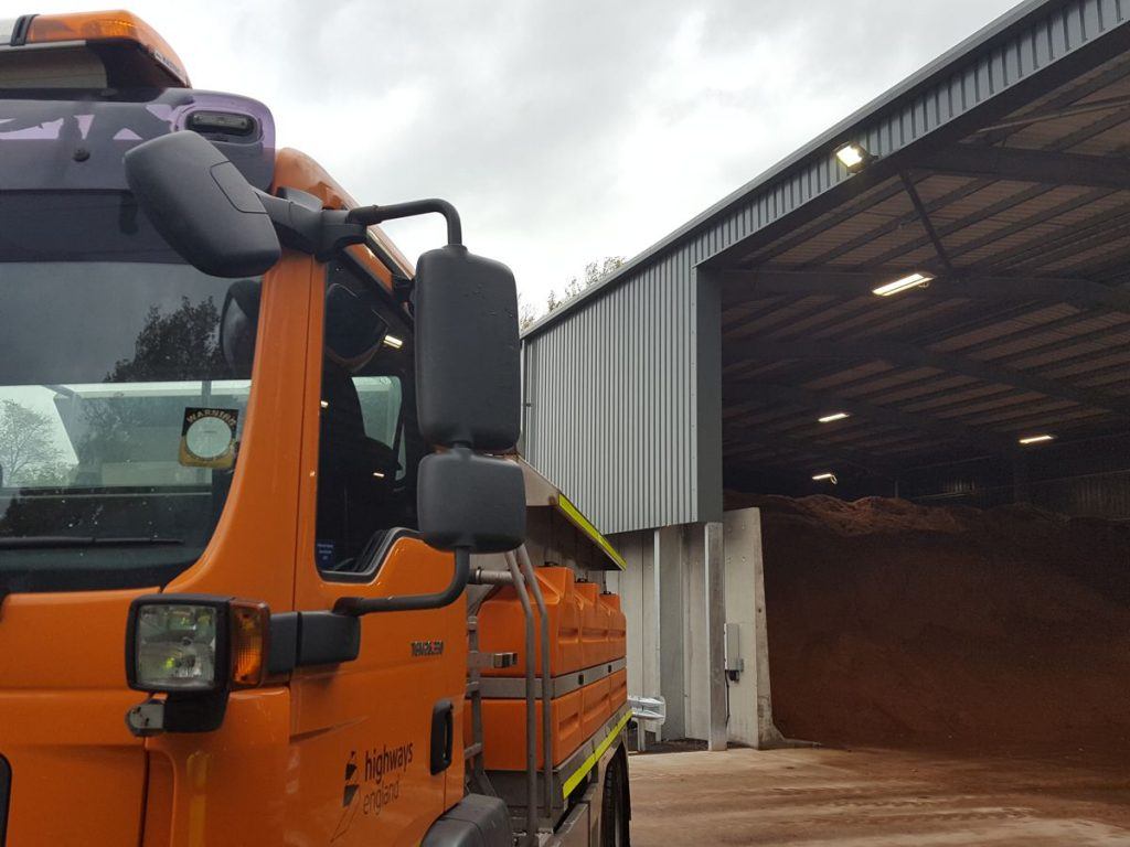 New £1.5 million salt barn to help keep Britain's roads moving this winter