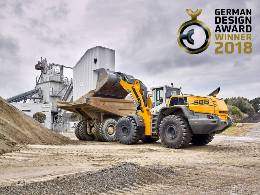 Liebherr-german-design-award-for-xpower-wheel-loader.jpg Clever and functional design: XPower large wheel loaders win the 2018 German Design Award.