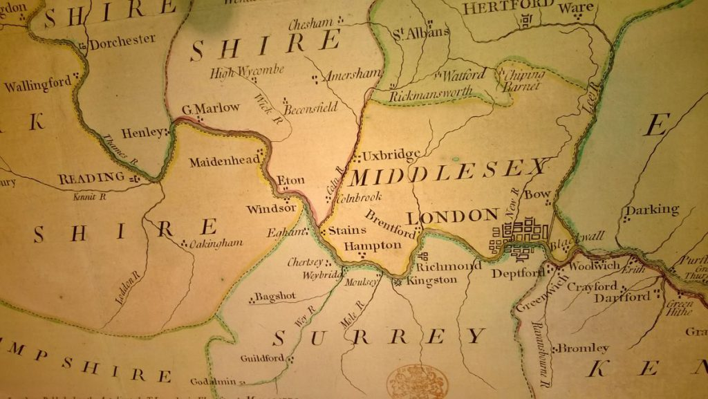 Old UK Map - Photo by Vicchi