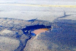 How big is the pothole problem in the UK?