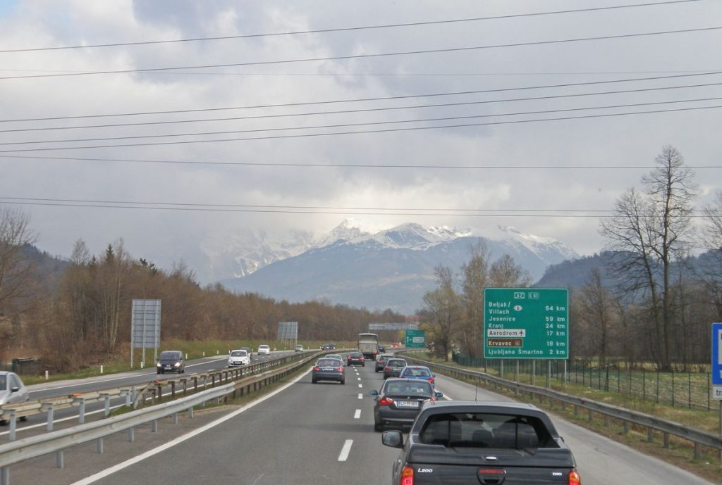 Slovenia Motorway to Airport - Photo by Amanda Slater