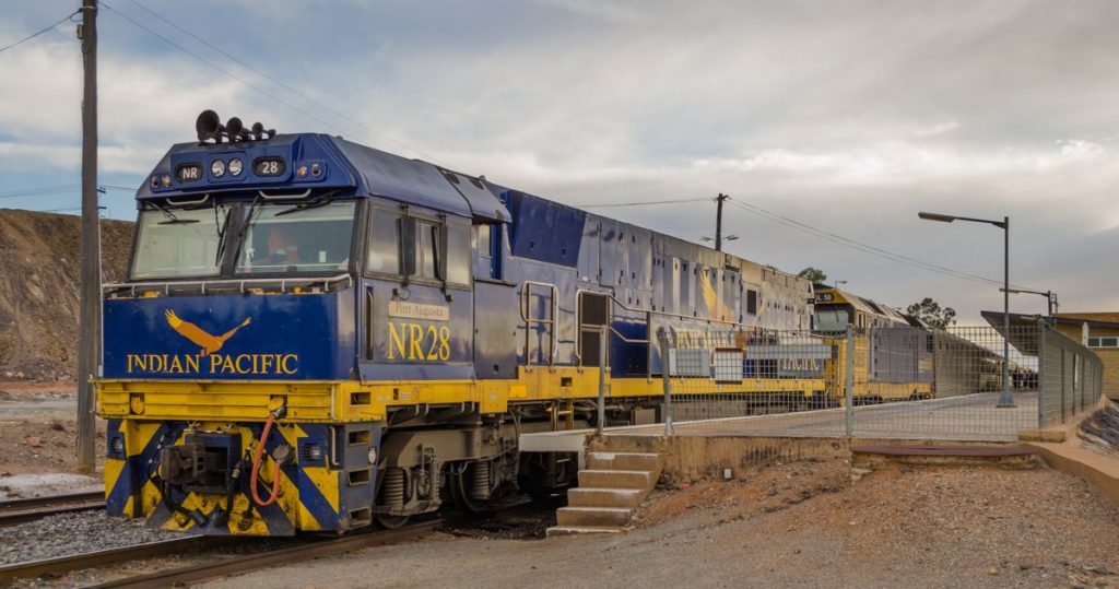 The Indian Pacific at Broken Hill - Photo by Simon Yeo