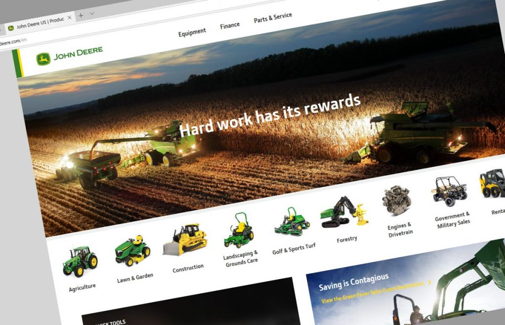 John Deere rolls out their new website