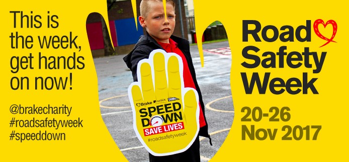 Support Road Safety Week and the Brake Charity