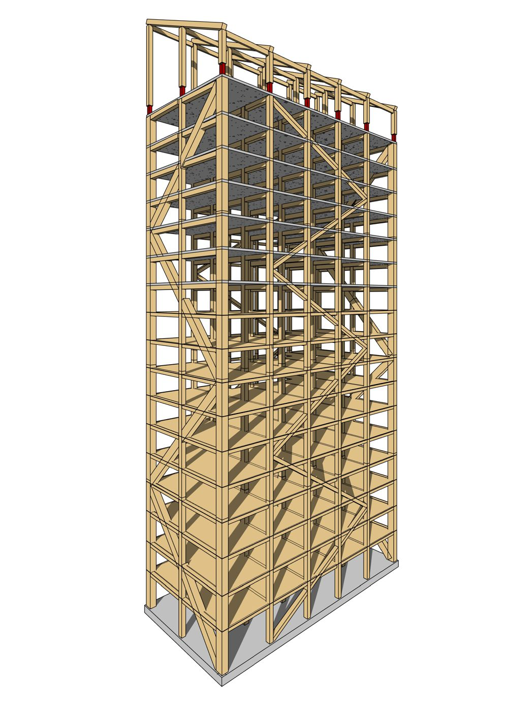 """""""Mjøstårnet"""" will be more than 80 metres tall and stand 30 metres higher than what is today considered the world's tallest timber building."""