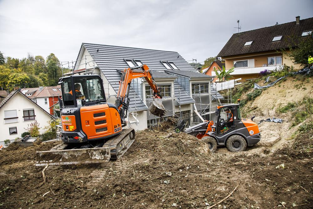 Hitachi compact construction equipment make a perfect combination