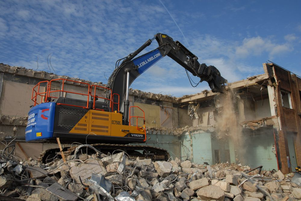 First Volvo demolition EC750E Excavator for R Collard Ltd