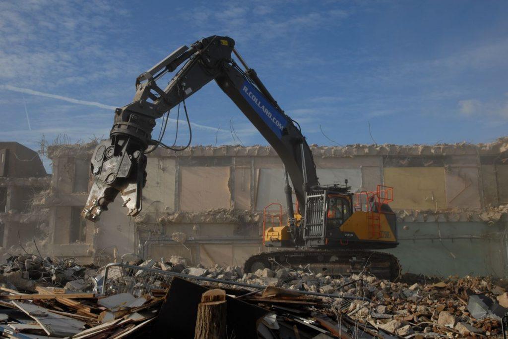 First Volvo demolition EC750E Excavator for R Collard Ltd