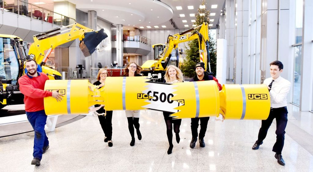 JCB celebrates Christmas with a £500 bonus for their employees