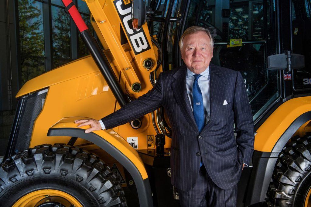 LORD BAMFORD OF JCB. Photo by Paul Cooper