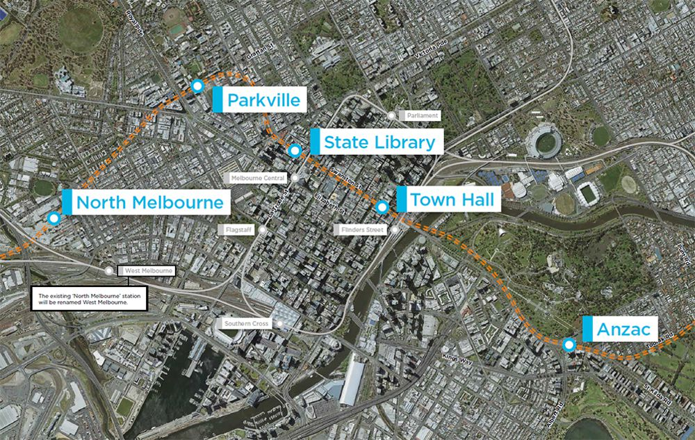 Major Metro Tunnel construction works on display in Australia