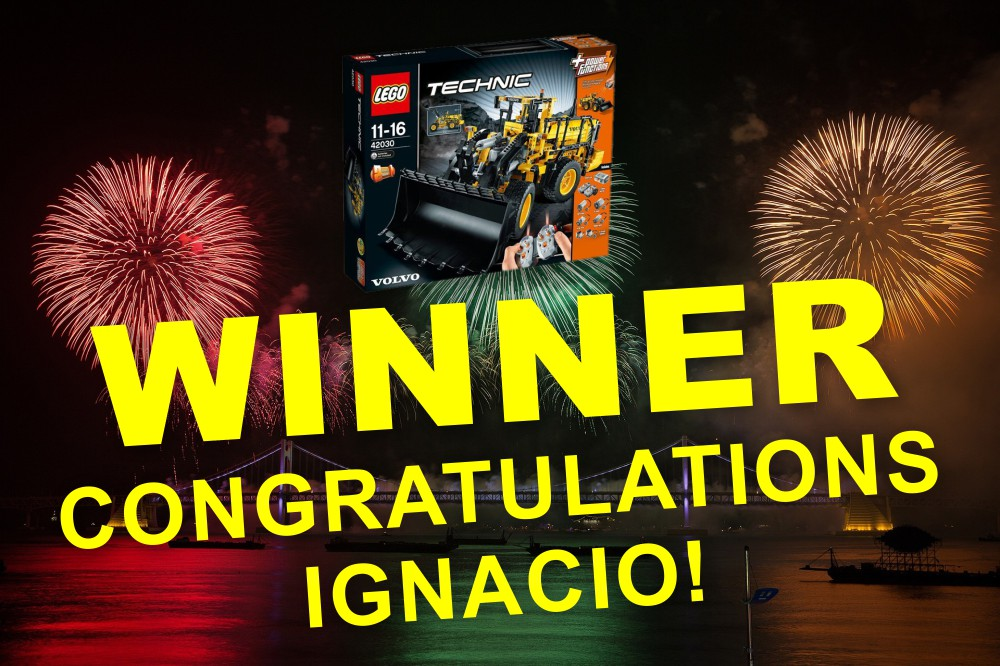 Congratulations to Ignacio from Brazil who is the lucky winner of the great Volvo Lego Technic prize in our Christmas Competition! The kit will be flying its way to you this week.