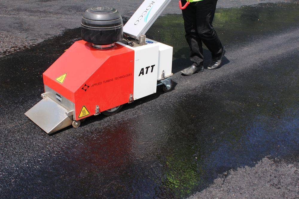 Zirocco Surface Dryer heats up the road marking industry