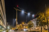 Liebherr MK 88 Plus mobile construction crane works day and night