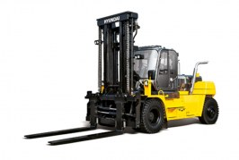 Hyundai's compact 160D-9L heavy forklift perfect for heavy duty applications