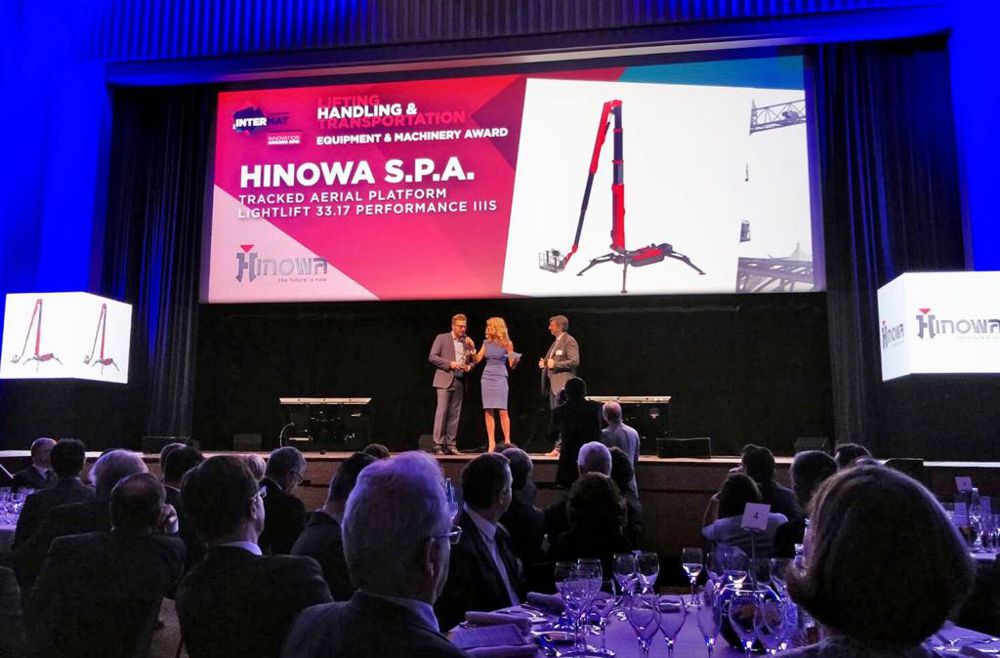 Hinowa Lightlift tracked aerial platform wins Intermat Innovation Award
