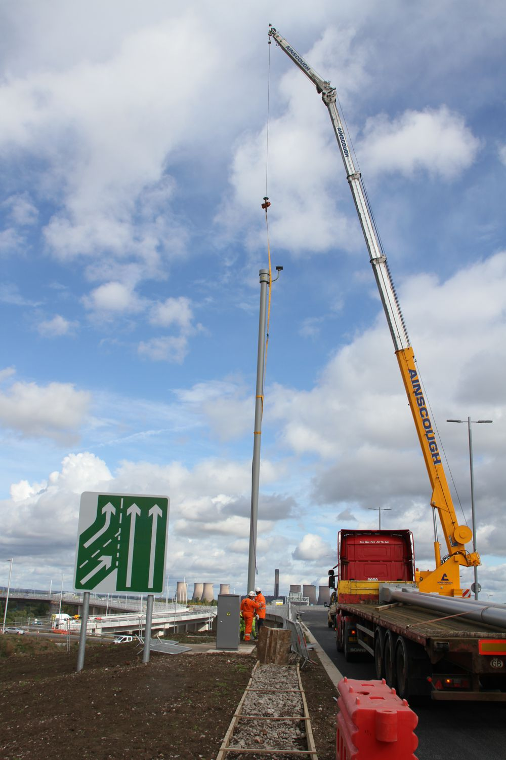 WEC CCTV manufacture 65 camera masts for Mersey Gateway Project