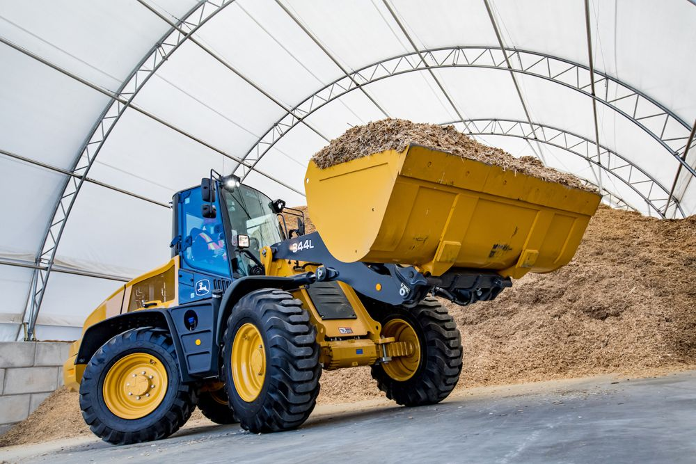 Lift more and move faster with new John Deere 344L Compact Wheel Loader