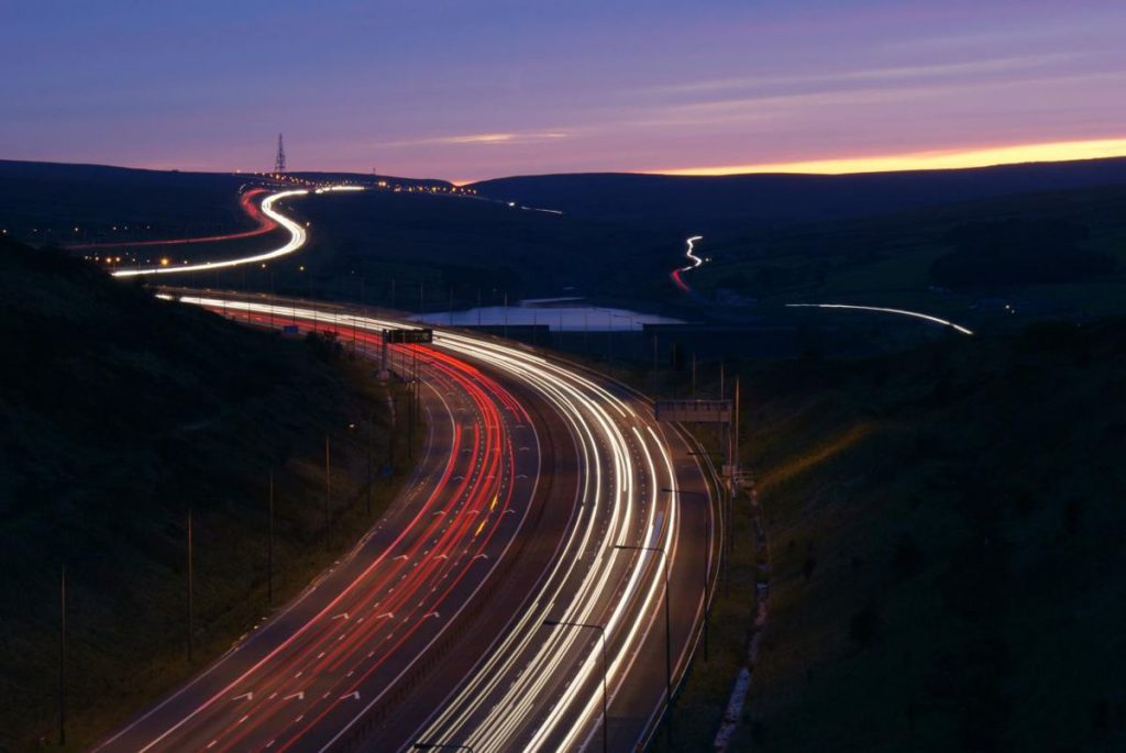 M62 Motorway - Photo by Adam KR