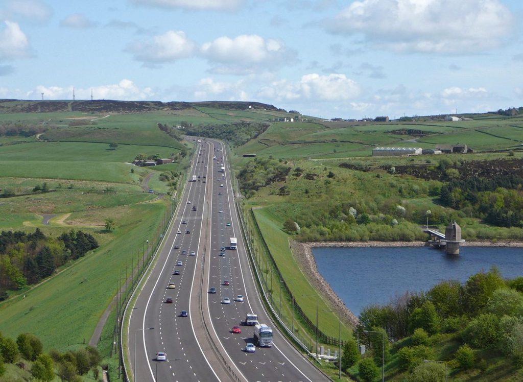 M62 Motorway - photo by Tim Green