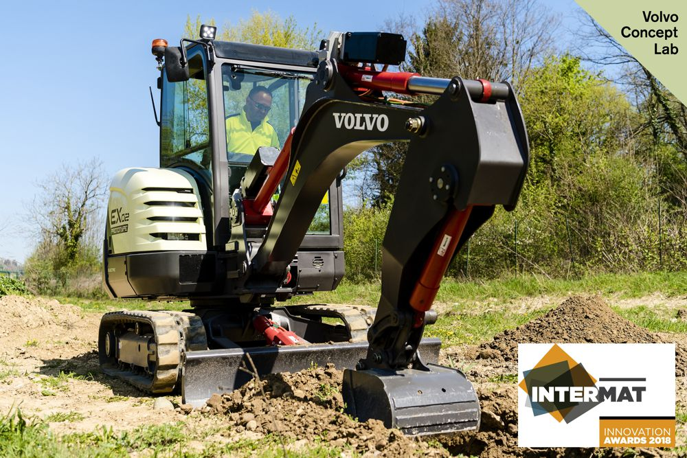 VolvoCE electric excavator prototype wins Intermat Innovation Award